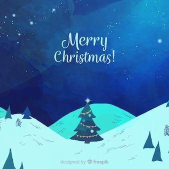 クリスマスツリーのilustrationの背景