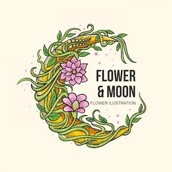 手描きの花のilustration