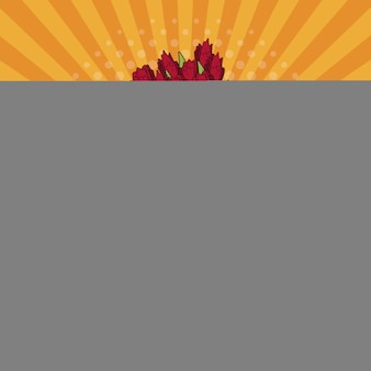 Букет матери день счастливый поп-арт вектор ilustrtation значок