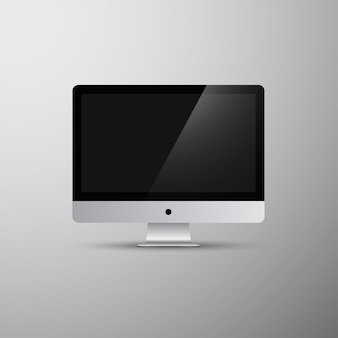 Imacコンピュータのモノブロックベクターmokcup