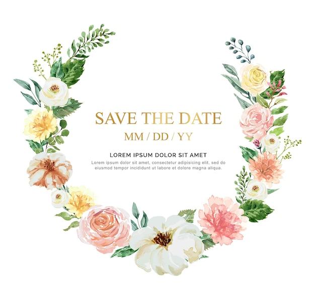 結婚式のための水彩画の手描きのimage.collectionは、カード、壁紙やテクスチャを招待します。