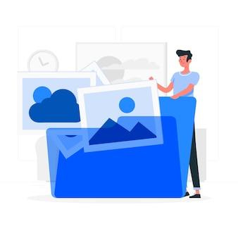 Image folder concept illustration