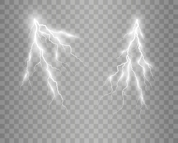 リアルな稲妻のイメージ雷の閃光