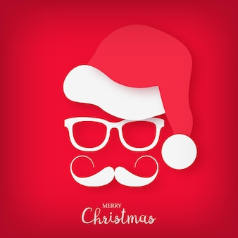 Image of santa claus with a stylish mustache and glasses