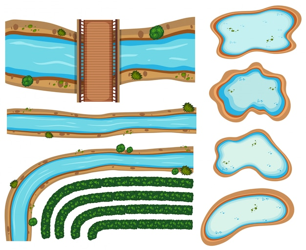 An image showing aerial rivers