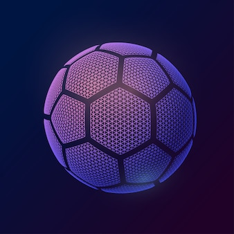 Image soccer ball made of polygon shapes