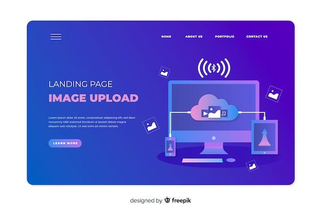 Image upload concept for landing page
