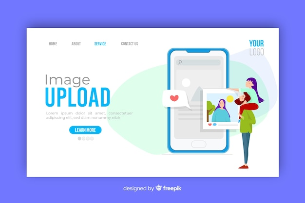 Image upload concept for landing page