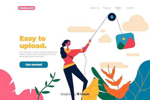 Image upload landing page concept