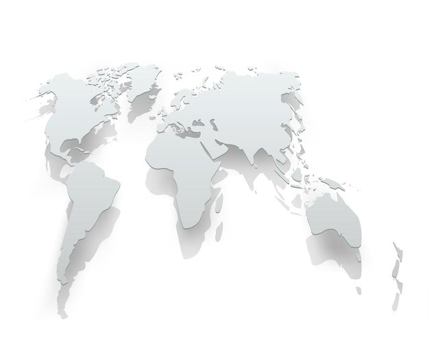 Image of world map paper
