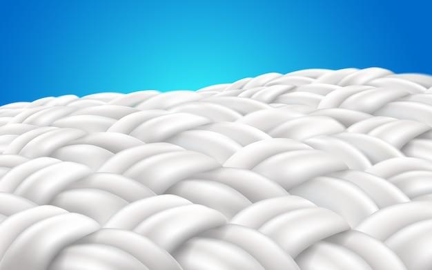 Image zoom fabric fibers