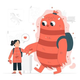 Иллюстрация концепции мнимого друга