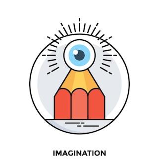 Imagination flat vector icon