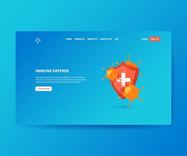 Immune defense medical hero landing page