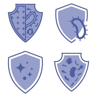 면역 가드 건강한 박테리아 바이러스 보호 바이러스 중지 항균 보호 또는 면역