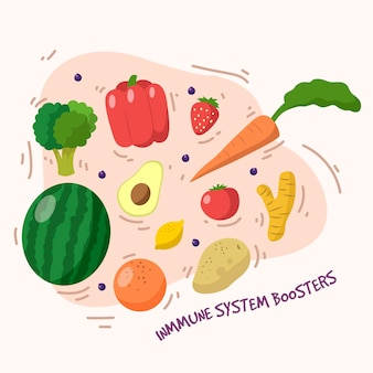Immune system boosters with fruits