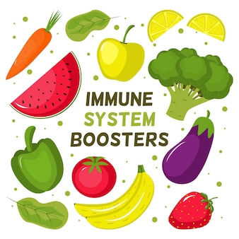 Immune system boosters with vegetables