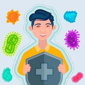 Concetto di sistema immunitario