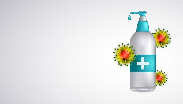 Immune system hand sanitizer for corona virus 2020 virus disease.