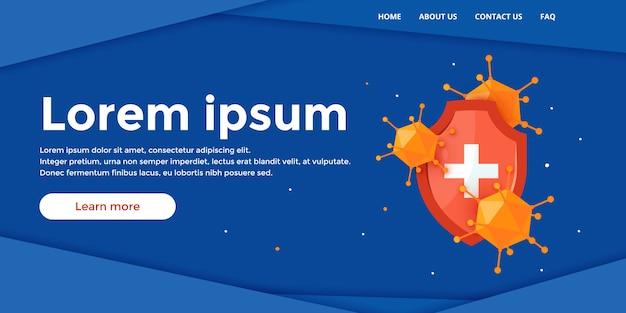 Immune system landing page
