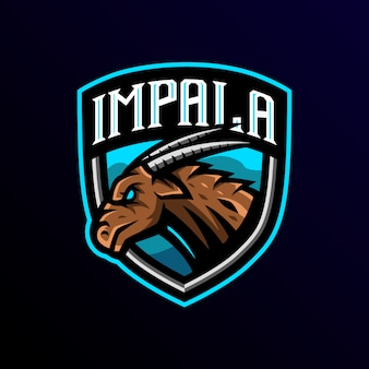Impalaマスコットロゴeスポーツゲーミング