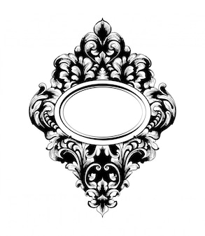 Imperial baroque mirror frame