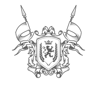 Imperial coat of arms isolated on white