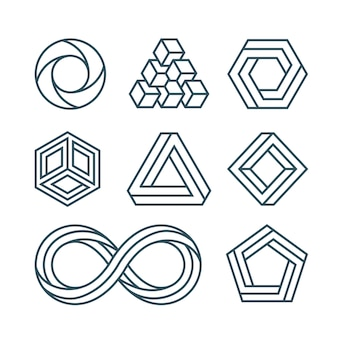 Impossible geometric shapes set