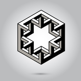 Impossible geometry symbols vector on grey backgroundsacred geometry symbols and signes vector illus...