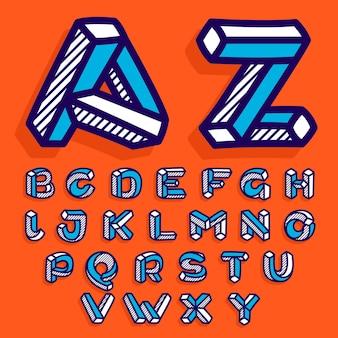 불가능한 모양 플랫 알파벳