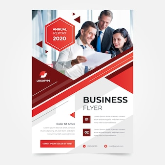 Improve company business flyer template