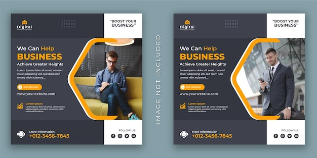 Improve your business and corporate agency flyer