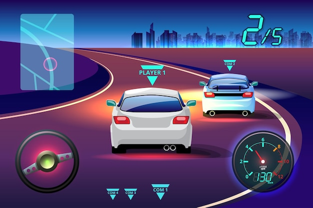 В игровом соревновании продолжить игрок использовал высокоскоростной автомобиль для победы в гоночной игре.