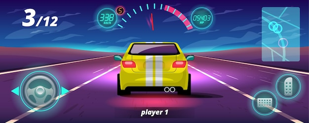 ゲームの競争では、プレーヤーはレースゲームで勝つために高速車を使用し続けました。