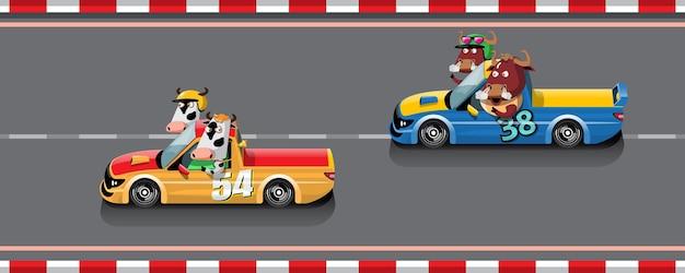 ゲームの競争では、プレーヤーはレースゲームで勝つために高速車を使用し続けます