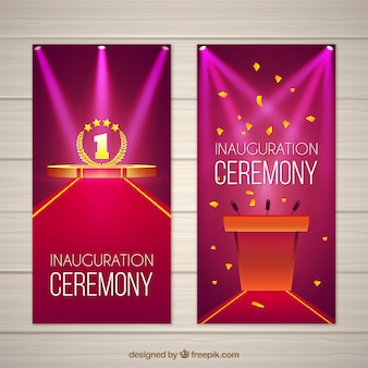 Inauguration banners with classic style