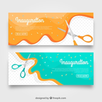Inauguration party banners with lovely style