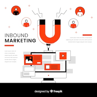 Inbound marketing background template