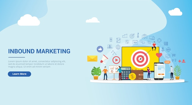 Inbound marketing concept strategy
