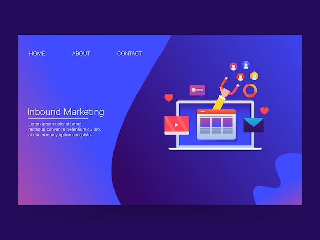 Inbound marketing concept
