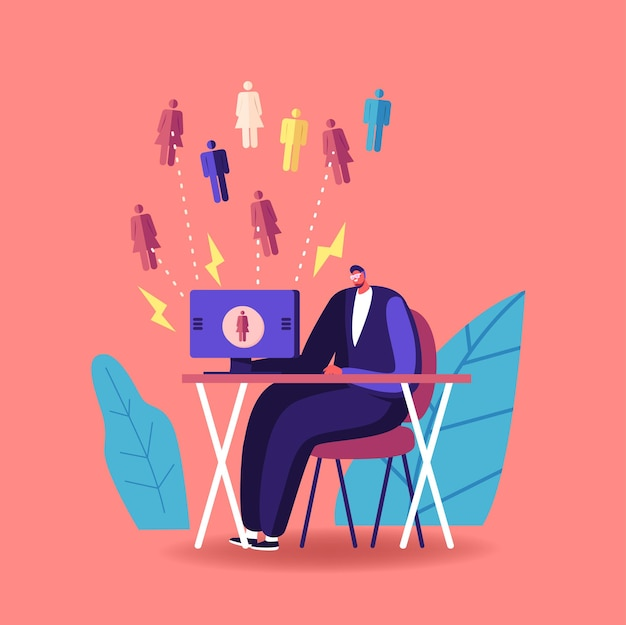Inbound marketing, financial goals achievement illustration