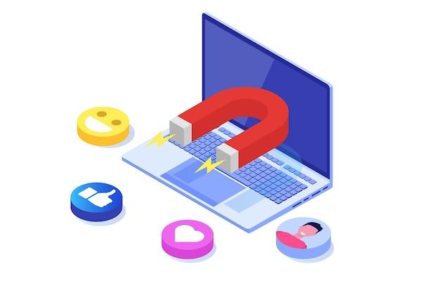 インバウンド、オンラインまたはパーミッションマーケティング、販売生成。