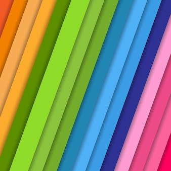Наклонные цветные полоски с тенью