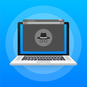 Incognito icon. question mark. icon. protection symbol. stock illustration.