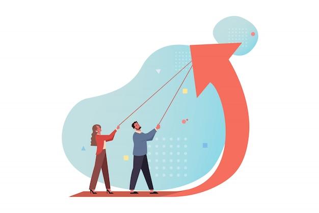 Рост доходов, запуск, управление инвестиционным финансированием, повышение прибыли, бизнес-концепция.