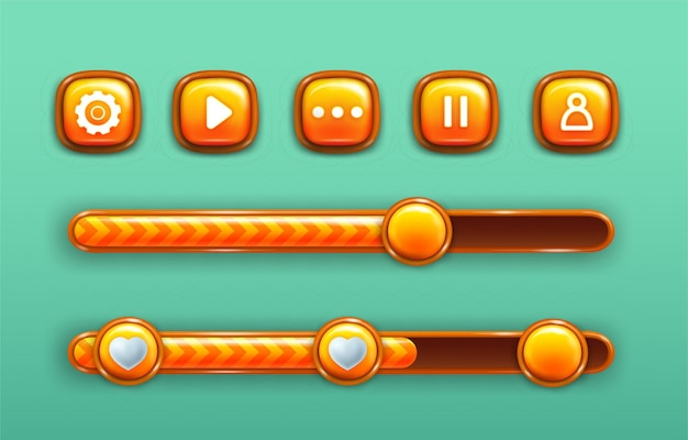 Increase and decrease buttons with power bars