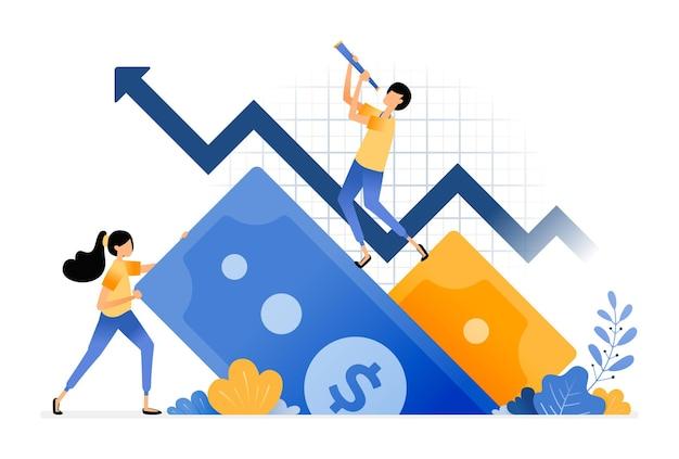금융 투자 증가. 2 차 금융 시장에 대한 긍정적 인 피드백