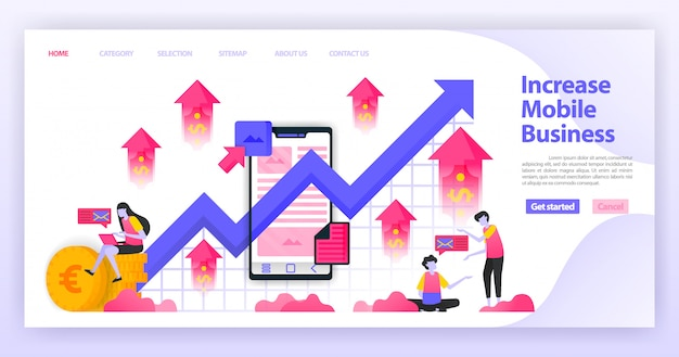 Increase mobile business landing page