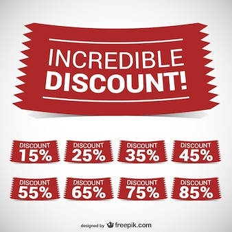 Incredible discount banners