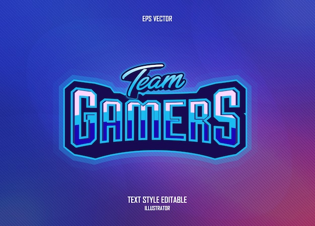 Incredible text style with gamer concept